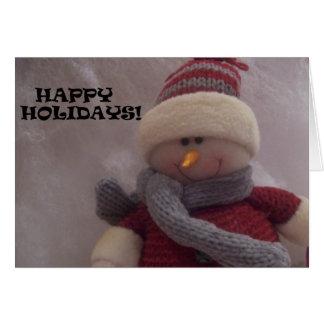 HAPPY SNOWMAN CARD - Customized
