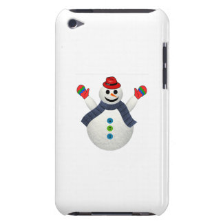 Happy snowman cartoon iPod touch cover