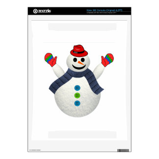 Happy snowman cartoon xbox 360 console decal