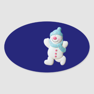 Happy Snowman Christmas gift stickers