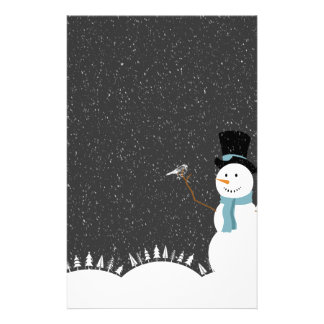Happy Snowman - Christmas/Holiday Design Stationery