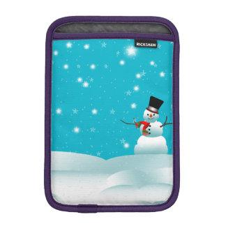 Happy Snowman Christmas ipad Mini Sleeve