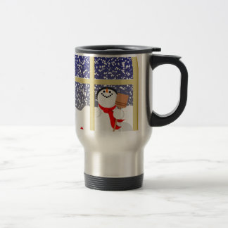 Happy snowman Christmas Travel Mug