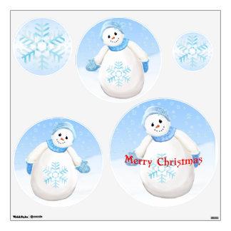 Happy Snowman Christmas Wall Sticker