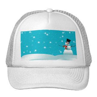 Happy Snowman Christmas Winter Hat
