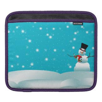 Happy Snowman Christmas Winter ipad Sleeve