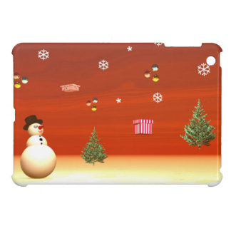 Happy snowman for Christmas Case For The iPad Mini