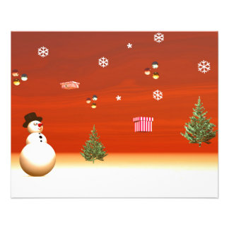 Happy snowman for Christmas Flyer
