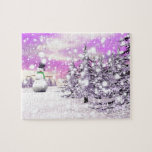 Happy snowman for Christmas Jigsaw Puzzle