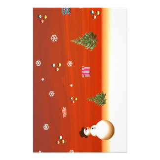 Happy snowman for Christmas Stationery
