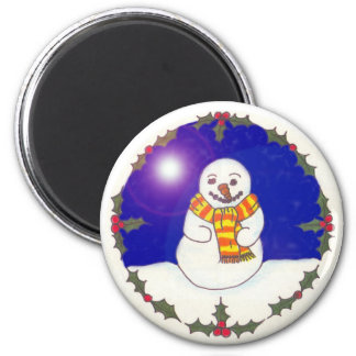 Happy Snowman Fridge Magnet