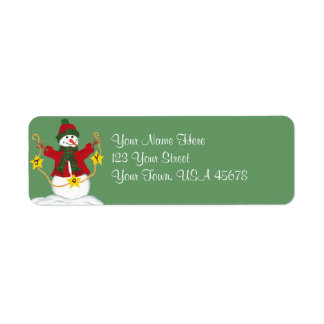 Happy Snowman full of JOY - Address Label