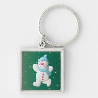 Happy snowman fun christmas keychain, gift keychain