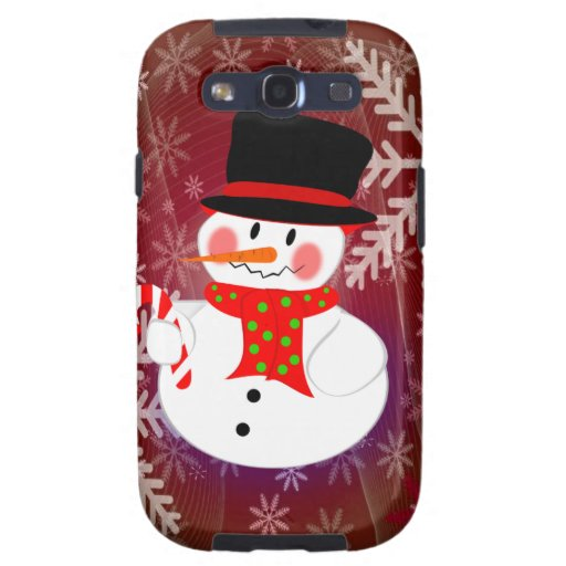 Happy Snowman Galaxy S3 Cases