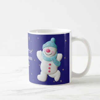 Happy Snowman girls name christmas mug, gift