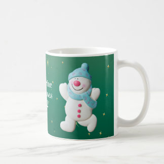 Happy Snowman girls name christmas mug, gift Coffee Mug