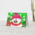 Happy Snowman Greeting Card