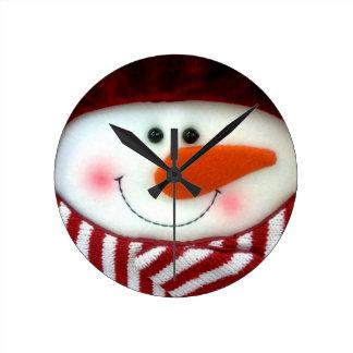 Happy Snowman Holiday Clock