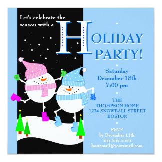 Happy Snowman Holiday Party Invitation