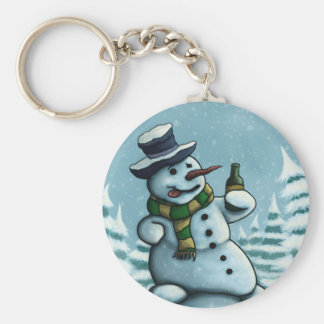 happy snowman key chain