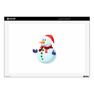 Happy Snowman Laptop Decal