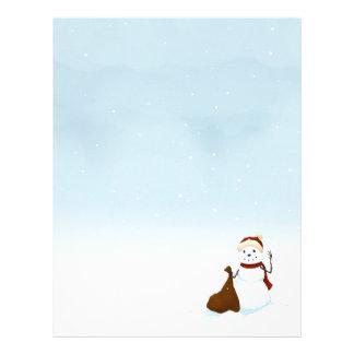Happy snowman letterhead