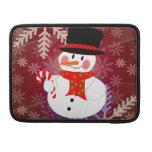 Happy Snowman MacBook Pro Sleeves