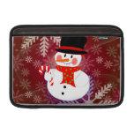 Happy Snowman MacBook Sleeve