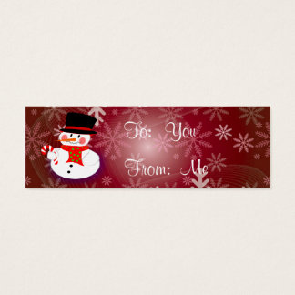 Happy Snowman Mini Business Card
