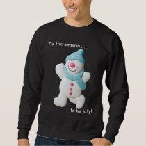 Happy snowman novelty christmas mens sweatshirt