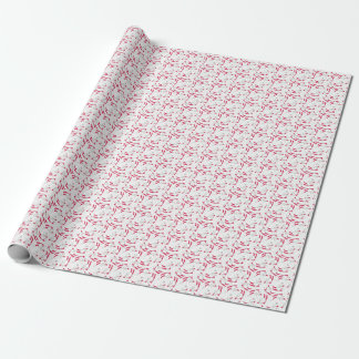 happy snowman on red ski gift wrapping paper