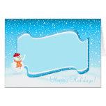 Happy Snowman Photo Frame Card