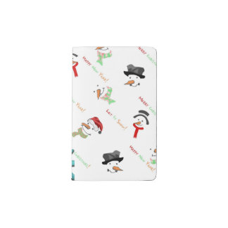 Happy Snowman Pocket Moleskine Notebook
