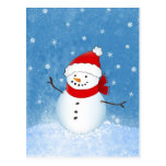 Happy Snowman Post Cards