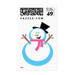 Happy Snowman Postage Stamps