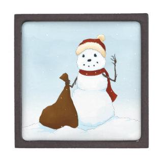 Happy snowman premium jewelry boxes