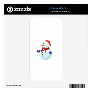 Happy Snowman Skins For iPhone 4S