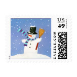 Happy Snowman Stamp