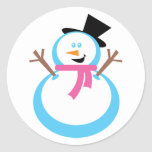 Happy Snowman Stickers