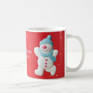 Happy Snowman tis the season christmas mug, gift Coffee Mug