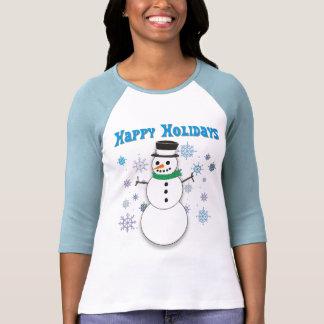 Happy Snowman T Shirts