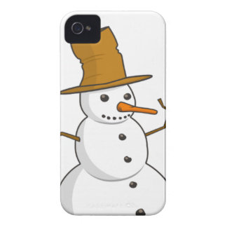 Happy snowman with a hat Case-Mate iPhone 4 case