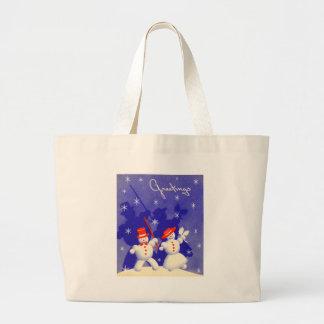 Happy Snowmen Canvas Bags