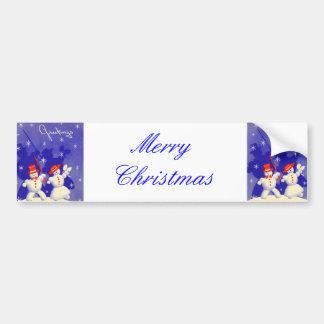 Happy Snowmen Bumper Sticker