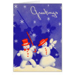 Happy Snowmen Greeting Cards