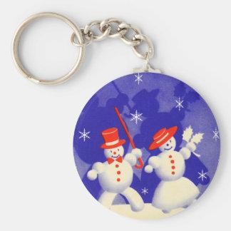 Happy Snowmen Keychain