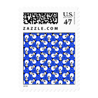 Happy Snowmen Redux Sm Any Color Postage
