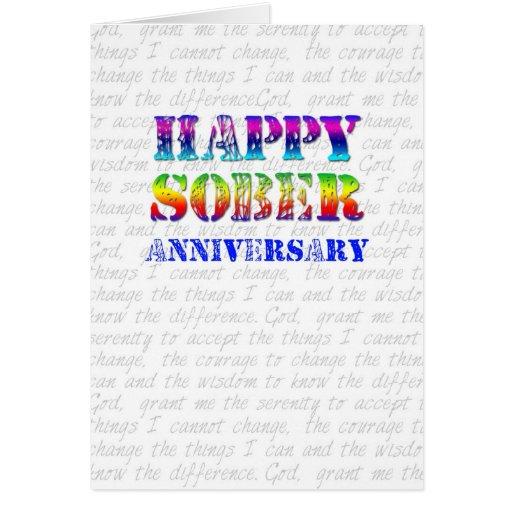 Happy Sober Anniversary Cards