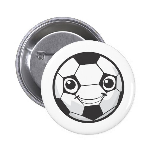 Happy Soccer Ball Pinback Buttons