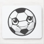 Happy Soccer Ball Smiling Mousepads